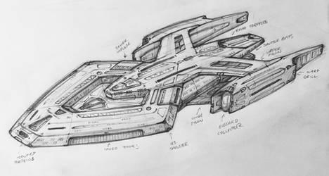 Scout Ship with Quad Pylon Assembly - detail