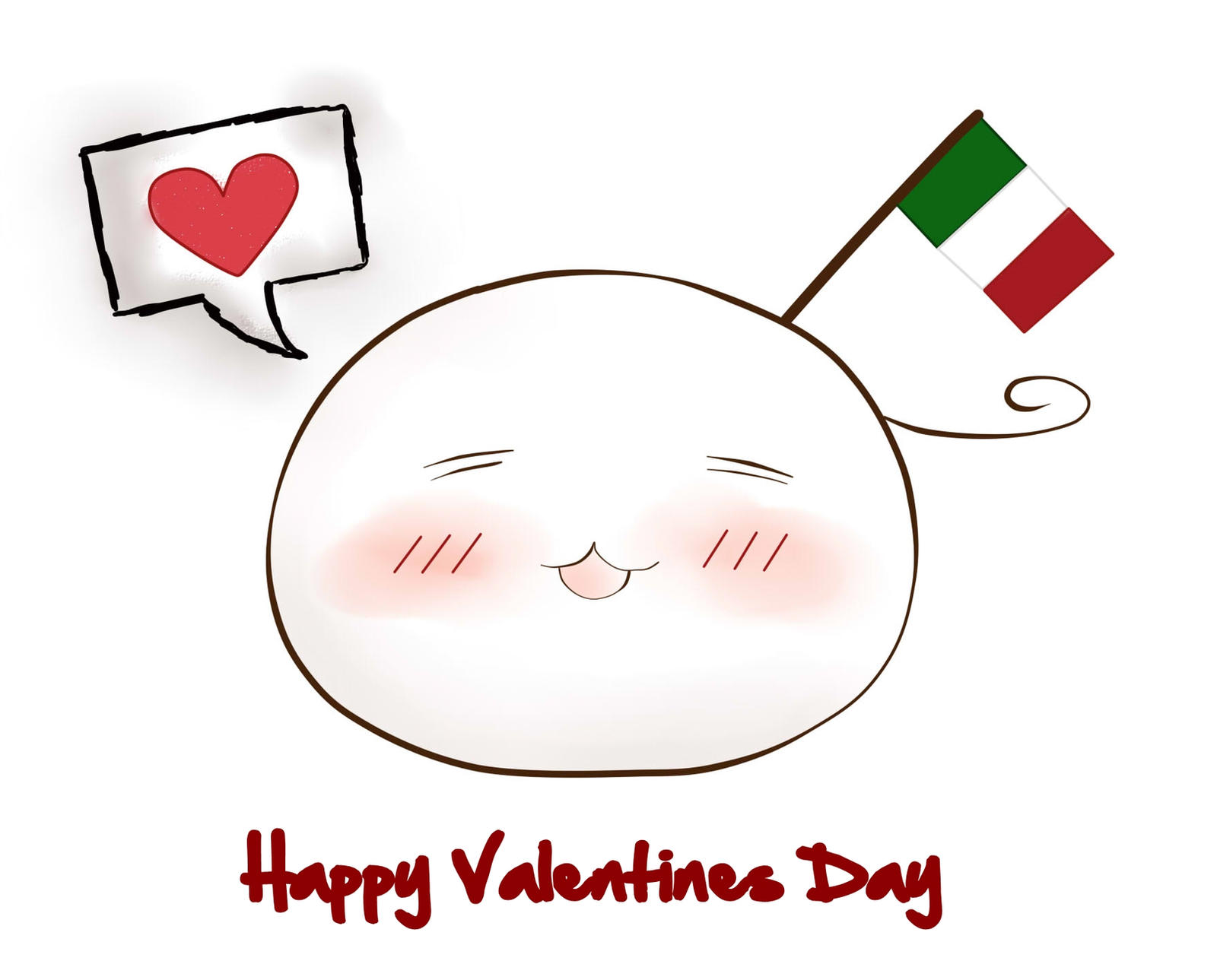Italy's Mochi- Happy Valentines Day by stateofgrace01