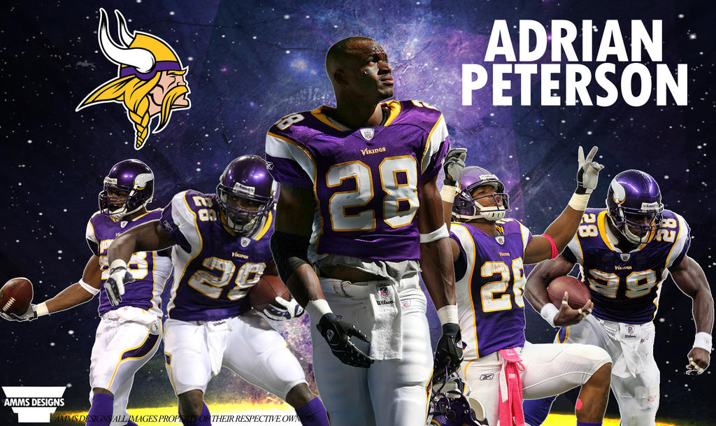 Adrian Peterson Poster By AMMSDesings