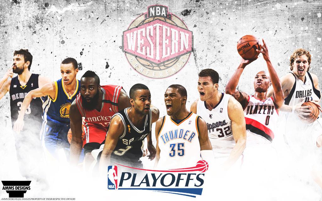NBA West Playoffs 2014 Wallpaper by AMMSDesings on DeviantArt