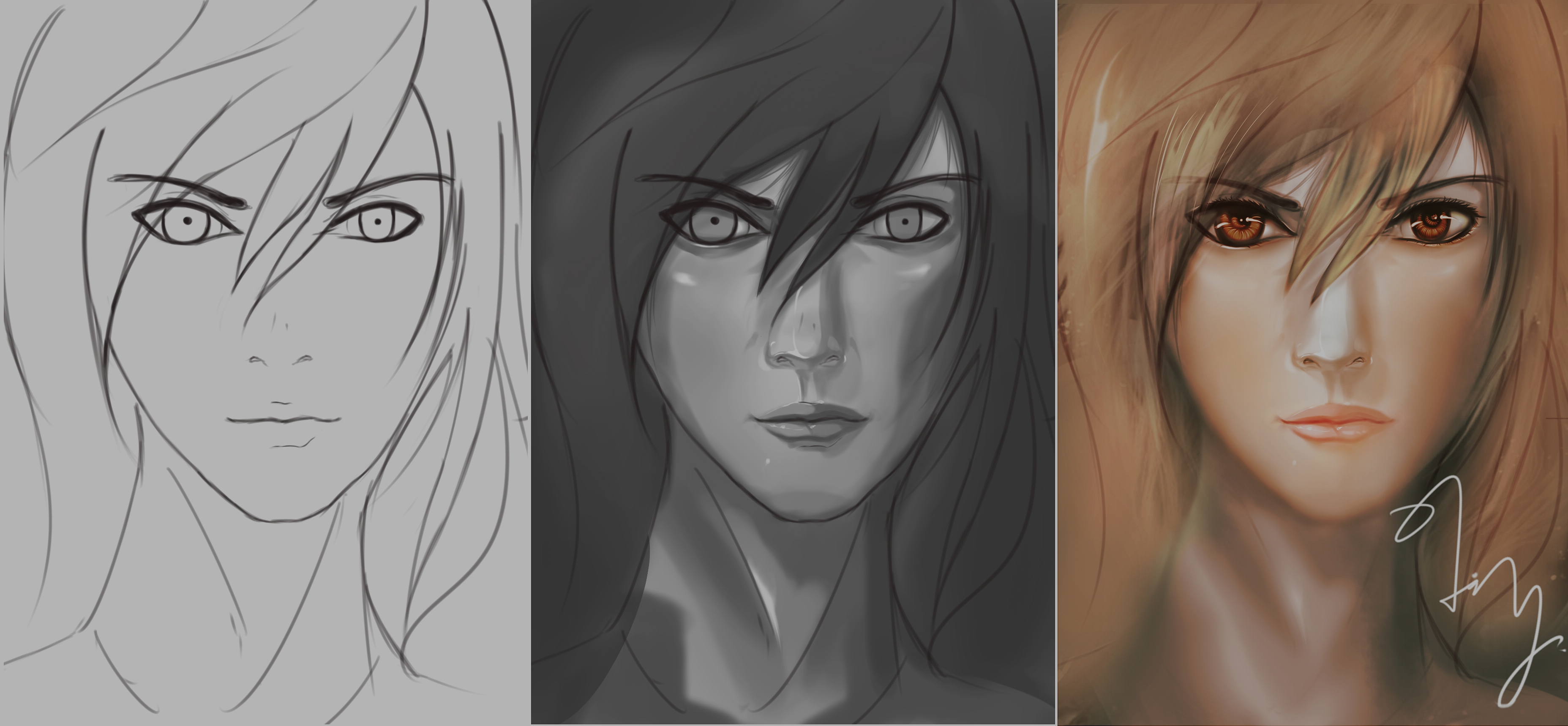 Grayscale Coloring test by RainartLin on DeviantArt