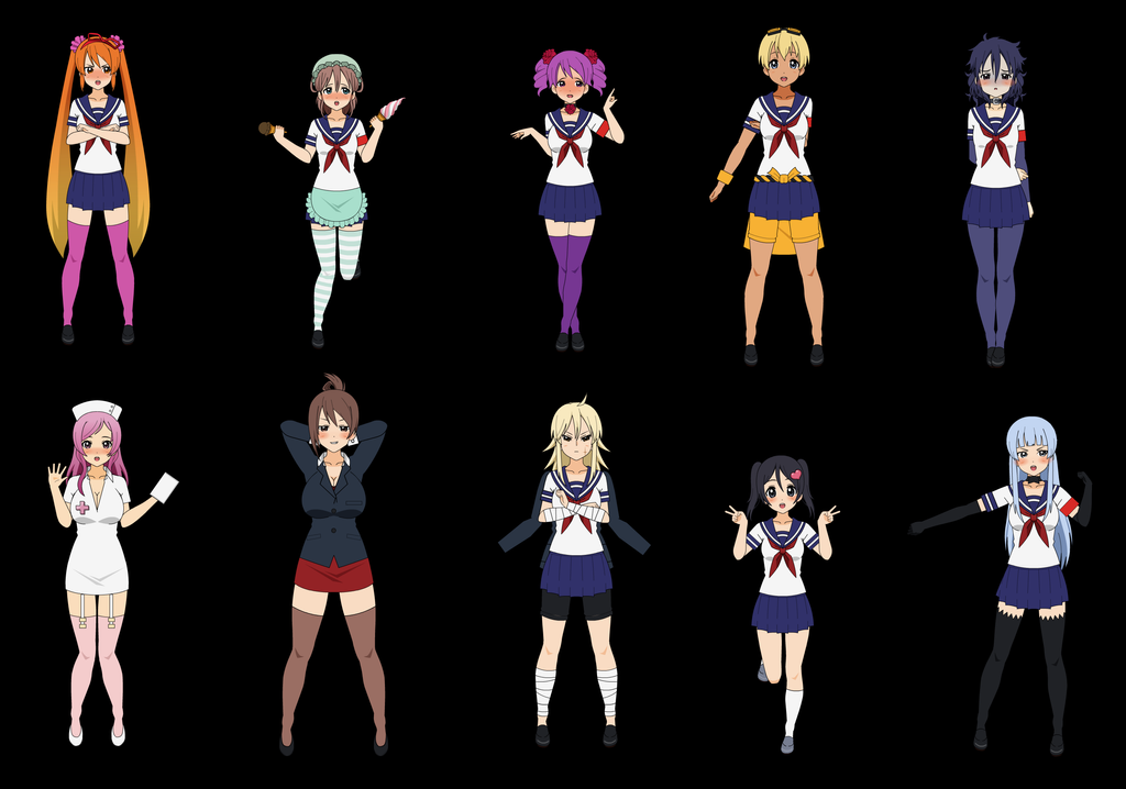Rivals In Yandere Simulator By Hairblue On Deviantart