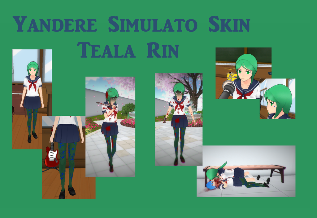 Yandere simulator skinteala rin by hairblue with prt taux for Ptz 2017 simulation