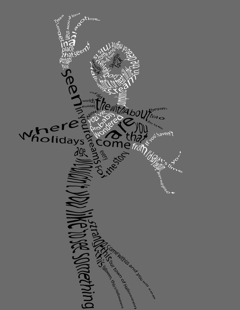 Nightmare Before Christmas Typography by Sharpshot666 on DeviantArt