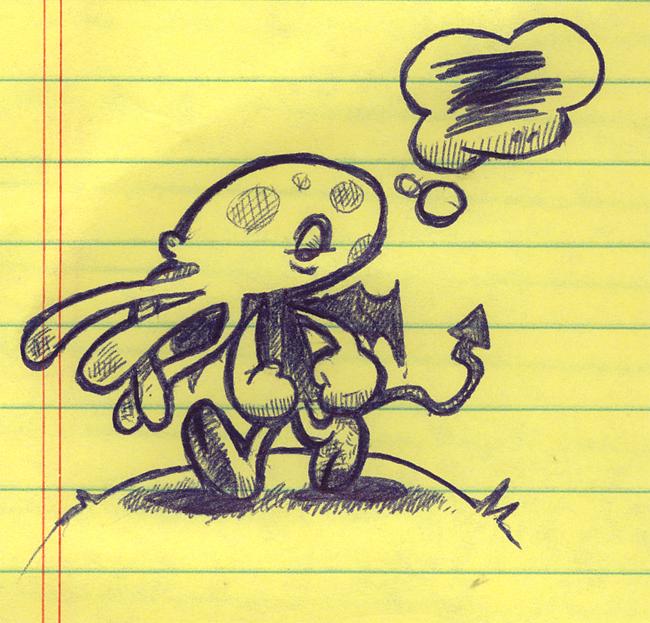 Cthulhu doodle by pocza