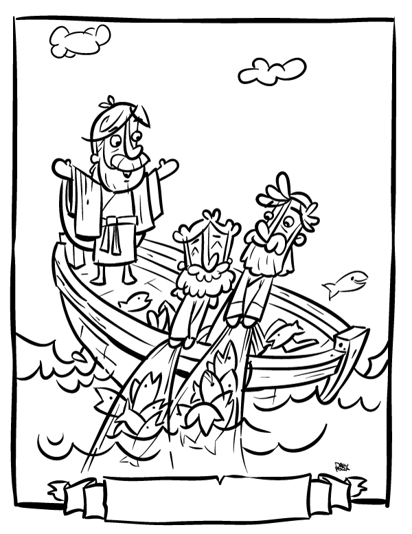 fisher of men coloring pages - photo#3