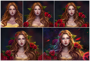 Belle - Beauty and the beast - Step by step by TinyTruc