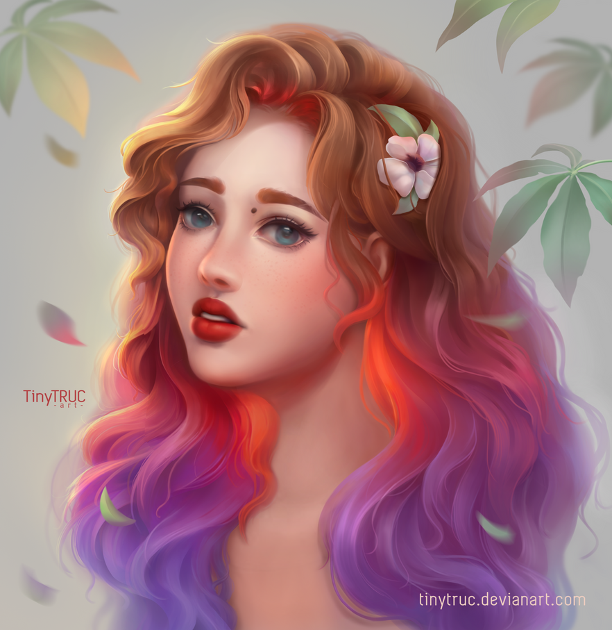 Ombre Colorful Hair By Tinytruc On Deviantart