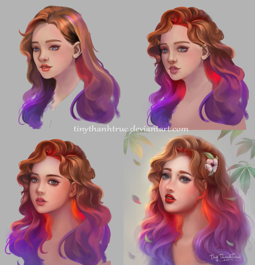 Ombre Hair Girl - Step by step by TiNyThanhTruc