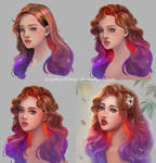 Ombre Hair Girl - Step by step