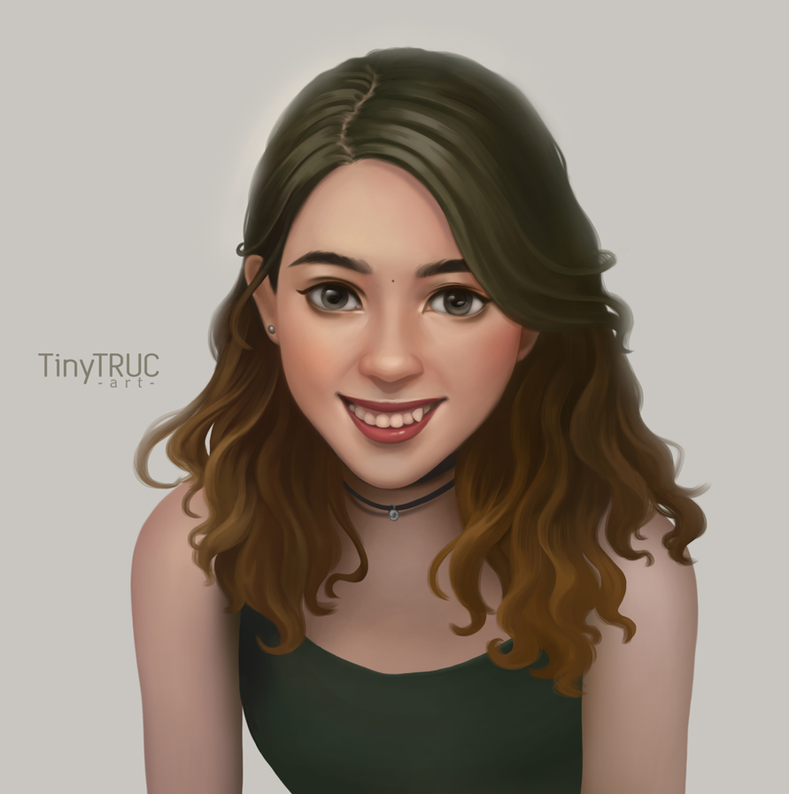 My self-portrait by TinyTruc