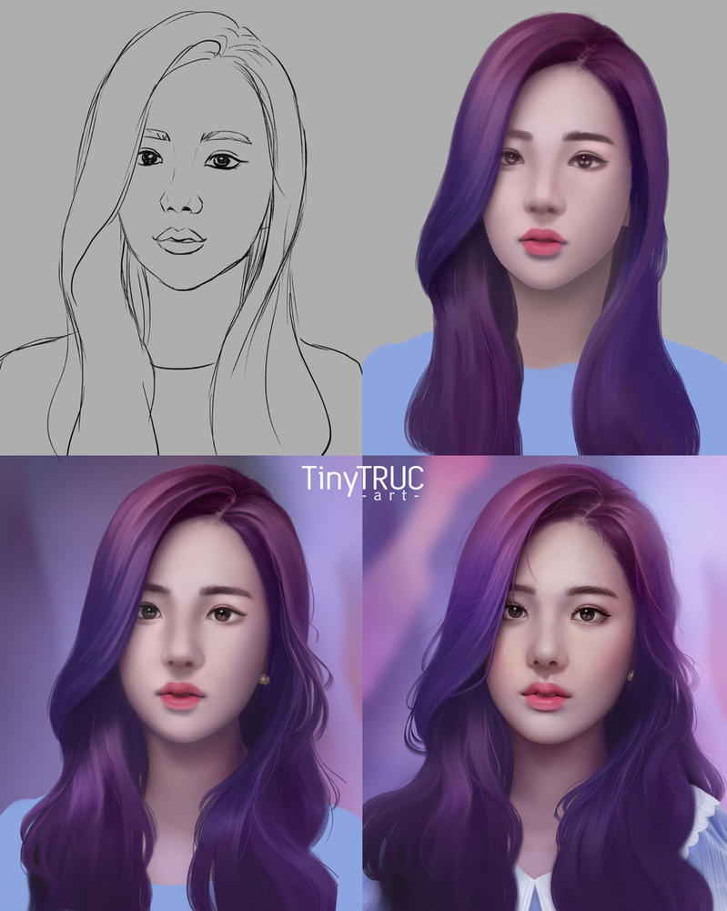 Jisoo Black Pink fan art - Step by Step by TinyTruc
