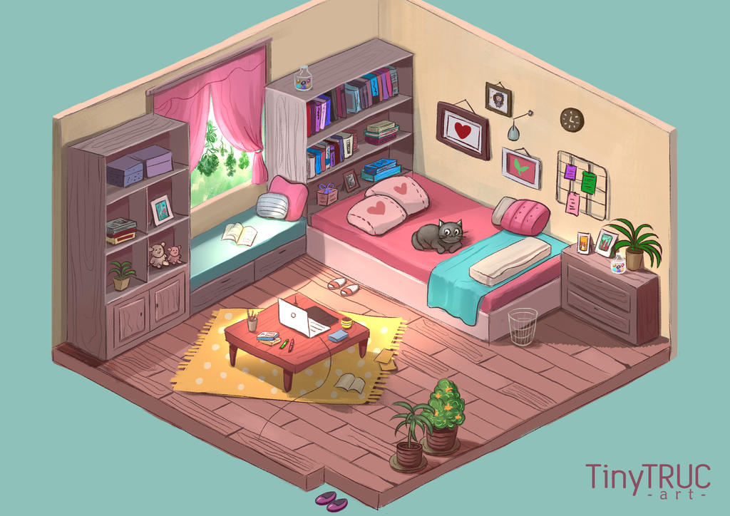 Isometric Room by TinyTruc