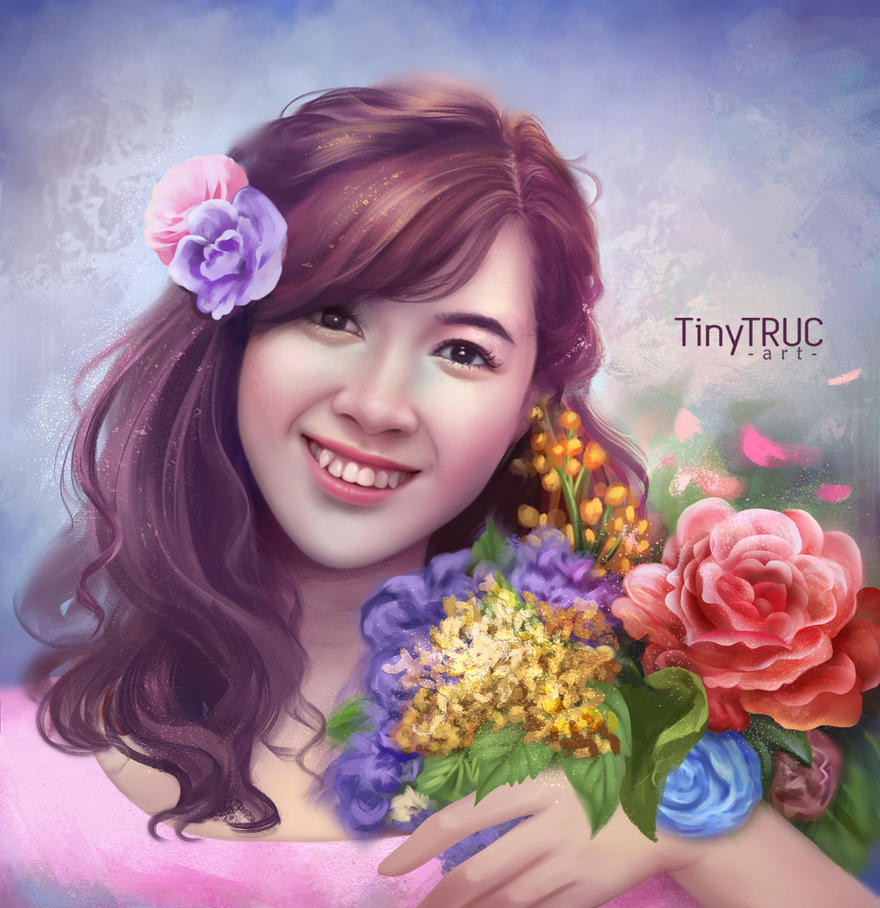 My self portrait by TinyTruc