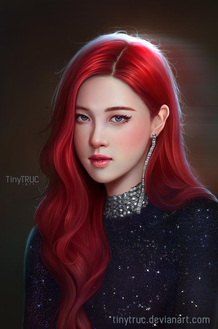 Rose Black Pink Portrait By Tinytruc On Deviantart