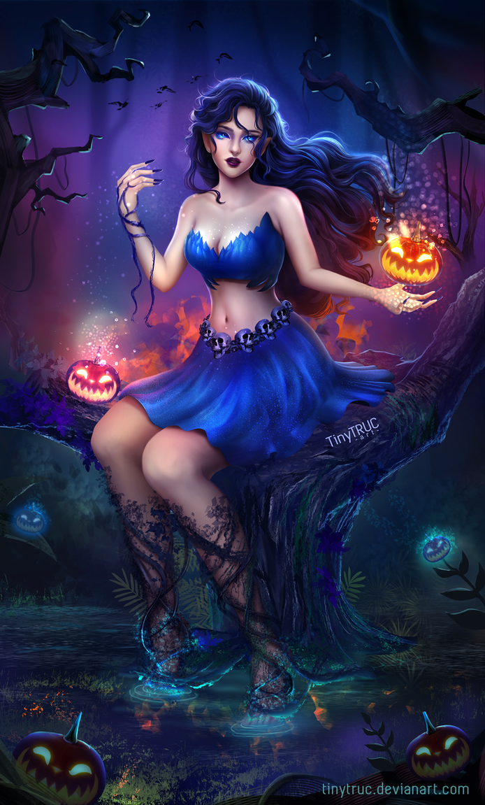 Halloween Girl in Blue by TinyTruc