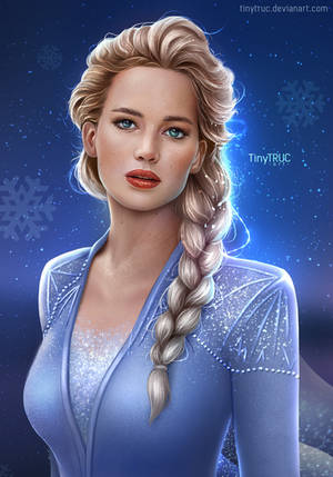 Elsa Jennifer Lawrence - fan art Frozen 2 by TinyTruc