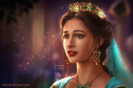 Jasmine Princess Disney portrait - Naomi Scott by TinyTruc