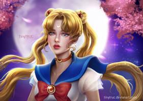 Sailor Moon fan art portrait
