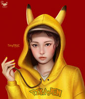 Jennie Blackpink as Pikachu fan art
