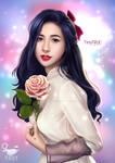 Thuy Tien Singer Portrait fan art