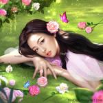 Jennie Blackpink with rose