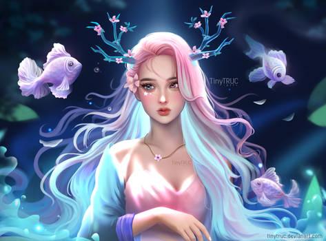 Fantasy Peach Blossom Girl