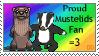 Proud Mustelids fan Stamp by Stenellya