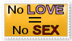 No Love No Sex Stamp by Stenellya