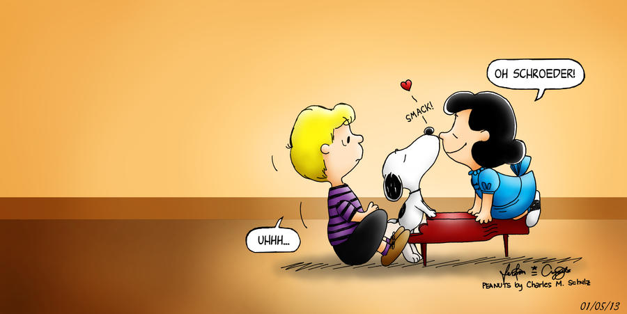 Awkward Moment With Snoopy, Lucy And Schroeder By