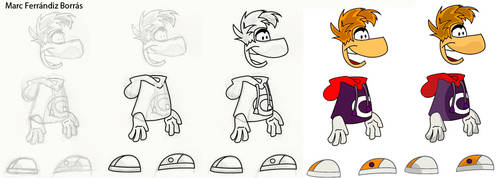 Rayman Origins process by marcferrandiz