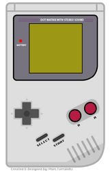 GameBoy Classic flat concept by marcferrandiz
