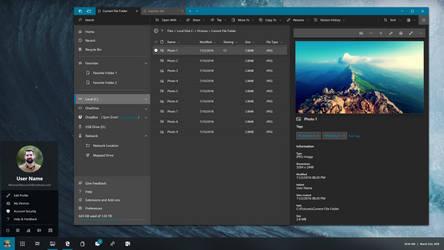 Windows Polaris Taskbar and File Explorer Concept