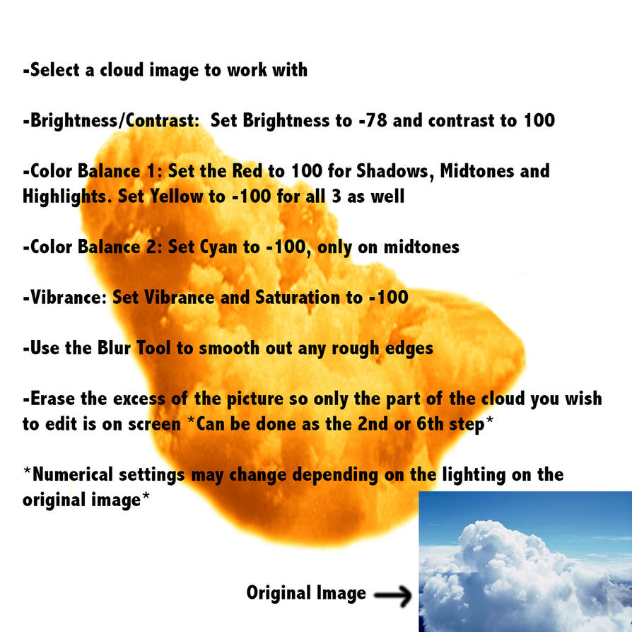 Cloud to fried chicken photoshop tutorial by theprophet191 on cloud to fried chicken photoshop tutorial by theprophet191 baditri Image collections