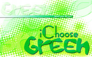 iChoose Green by rachismyname