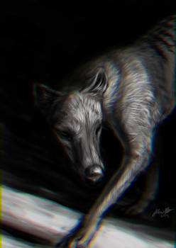 Another thylacine piece...can't think of a title