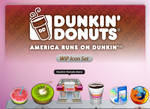 WIP Dunkin Donuts Icon Set