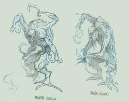 RE3 Nemesis Enemies Sketch by ncrow