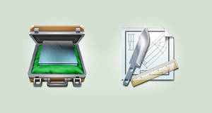 Case and Knife icons by ncrow