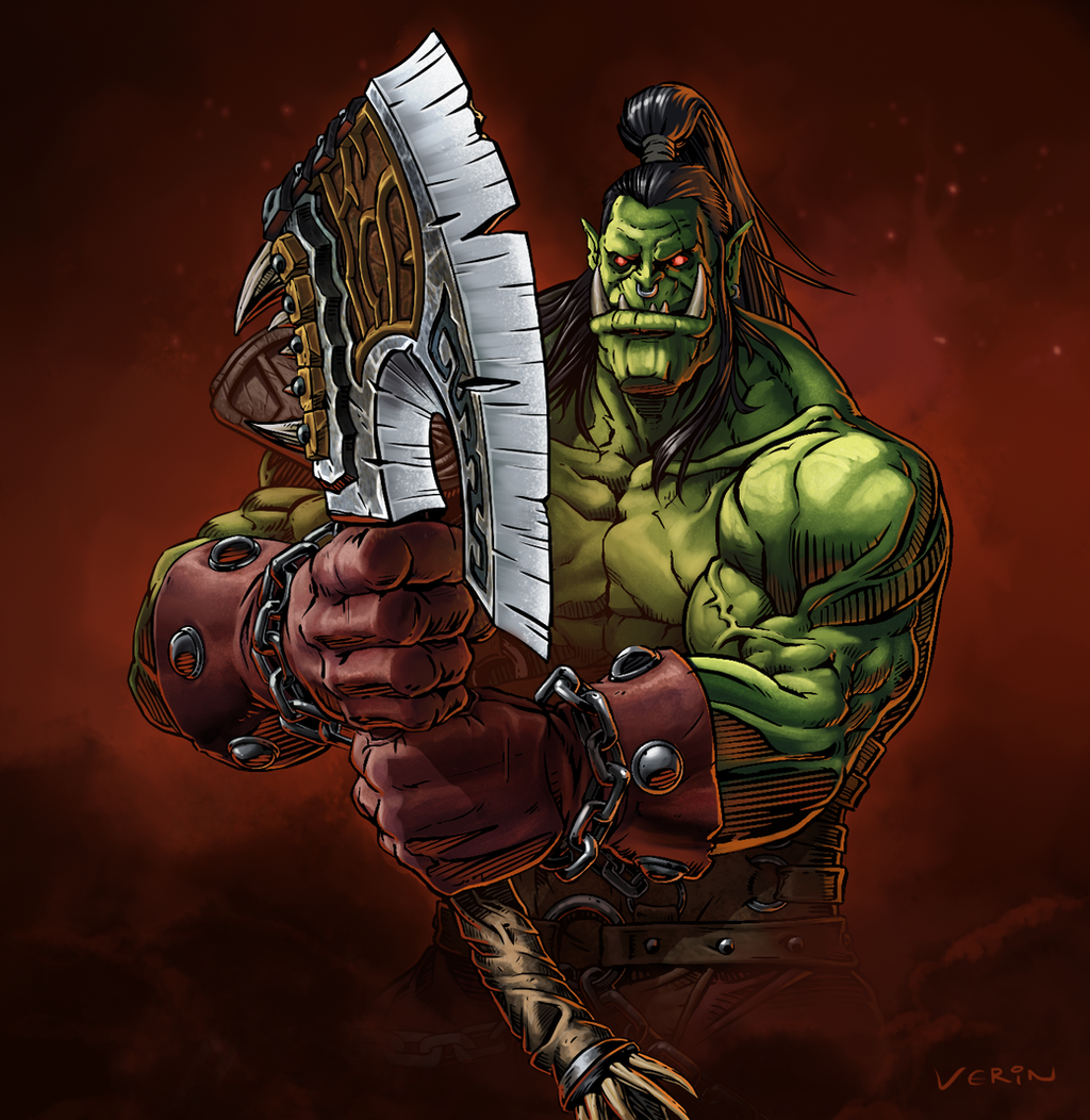 Orc Axe Warcraft Grommash Hellscream by...