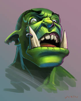 Orc Face Sketch