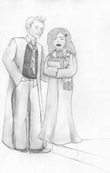 Rose and Scorpius Sketch by brookierulestheworld