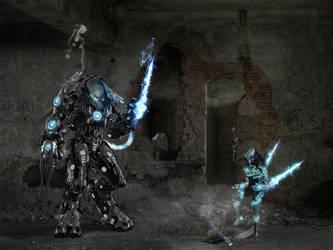 AvP Starcraft crossover by Dragon-Kiss
