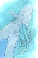 elf in mist by spyra
