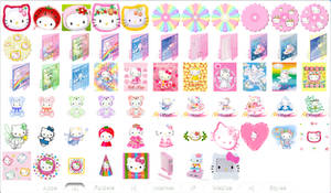 Hello Kitty Icons Preview 2 by TNBrat