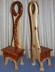 Leopard Chair by ArtbyBeans