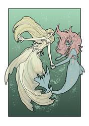 The Mermaid Dance by inkscribble