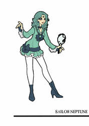 Redesigned Sailor Neptune by inkscribble