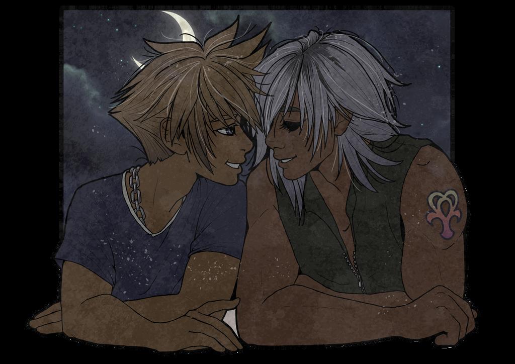 Sora and Riku by inkscribble