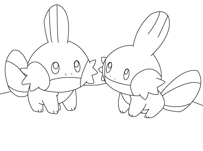 mudkip evolution coloring pages - photo#6